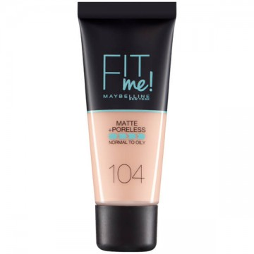 Fond de ten matifiant Maybelline New York Fit Me Matte & Poreless 104 Soft Ivory 30ml