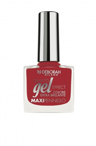Poze Lac de unghii Deborah Gel Effect Nail Enamel 33 Flamenco Red, 8.5 ml