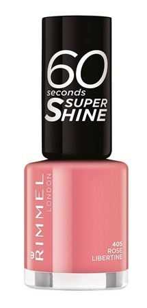 Poze Lac de unghii Rimmel 60 Seconds Shine, 405 Rose Libertine