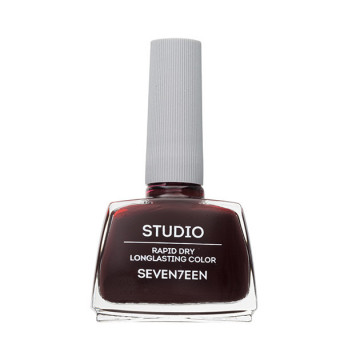 Lac de unghii Seventeen STUDIO RAPID DRY LASTING COLOR No 55 Dark Brown