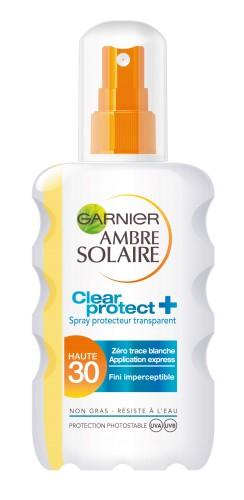 Poze Spray transparent Clear Protect cu protectie solara Garnier Ambre Solaire SPF 30 - 200ml