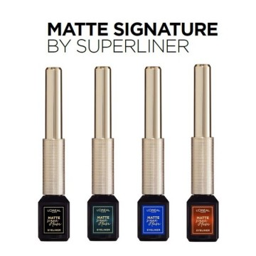 Poze Tus lichid waterproof L'Oreal Paris Matte Signature by SuperLine 02 Blue 6 ml