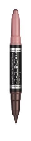 Fard de pleoape si Tus de ochi Rimmel Magnif'eyes Double Liner&Eyeshadow, 005 Pink & Purple Rain