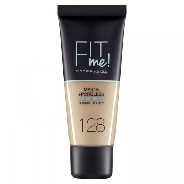 Poze Fond de ten matifiant Maybelline New York Fit Me Matte & Poreless 128 Warm Nude 30ml