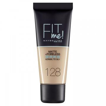 Fond de ten matifiant Maybelline New York Fit Me Matte & Poreless 128 Warm Nude 30ml