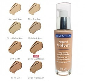 Fond de ten Seventeen Natural Velvet Matte Foundation No 80