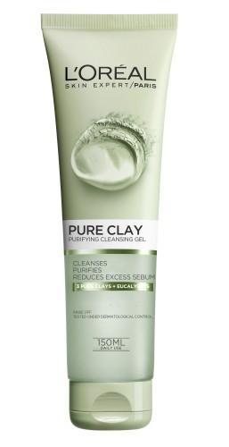 Poze Gel de curatare matifiant pentru fata L'Oreal Paris Pure Clay 150 ml