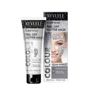 Poze Masca purificatoare Revuele Colour Glow Purifying Silver Peel Off Glitter Mask 80ml