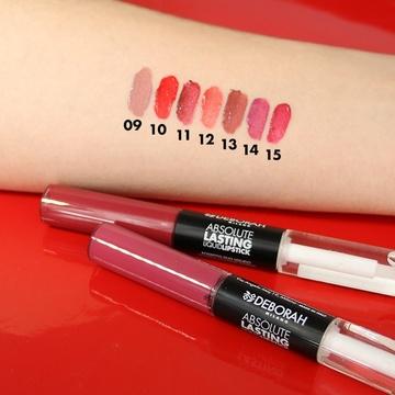 Ruj lichid Deborah Absolute Lasting Liquid Lipstick 10 Fire Red, 8 ml