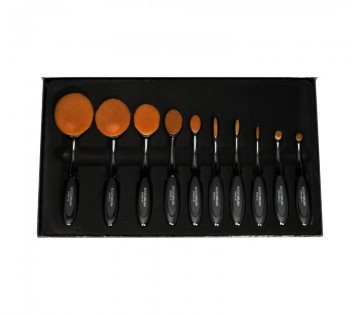 Poze Set pensule Boozy Cosmetics 10 pc Black Oval