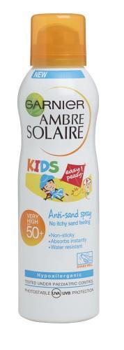 Poze Spray cu protectie solara pentru copii Garnier Ambre Solaire cu formula Anti-Sand SPF 50 - 200ml