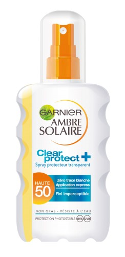 Poze Spray transparent Clear Protect Garnier Ambre Solaire SPF 50 - 200ml