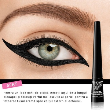 Poze Tus de ochi Revlon Colorstay Skinny Liquid Liner Black Out 301