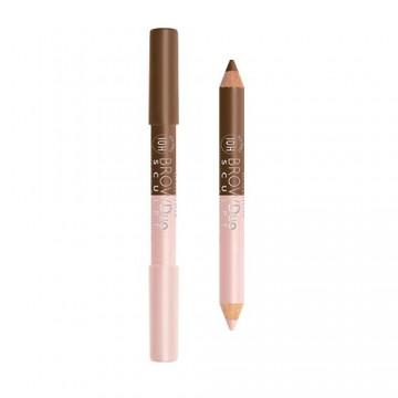 Poze Creion pentru sprancene Bourjois Brow Duo Sculpt Pencil 22 Chatain