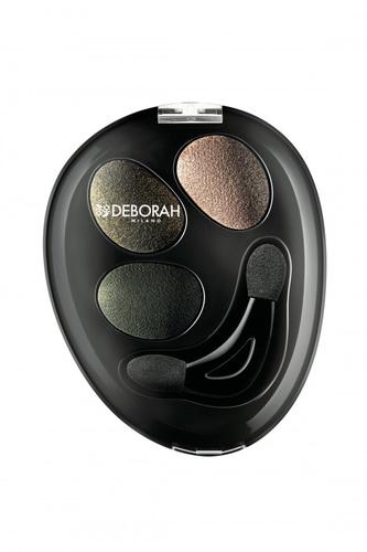 Fard de pleoape Deborah Trio Hi-Tech Eyeshadow 07 Green Chic, 2.2 g