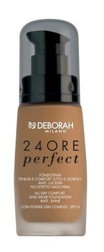 Poze Fond de ten Deborah 24Ore Perfect Foundation  N. 5 Amber, 30 ml