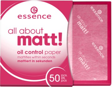 Poze Hartie matifianta Essence all about matt! oil control paper