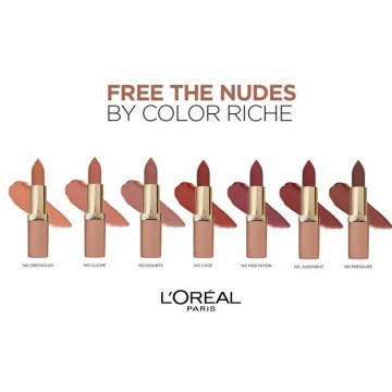 L'Oreal Paris Ruj ultra-mat, ultra-confortabil Color Riche Free The Nudes 03 NO DOUBTS