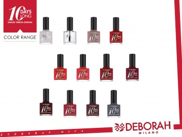 Poze Lac de unghii Deborah 10 Days Long Nail Enamel 161 Dark Red