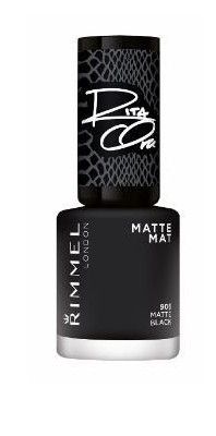 Poze Lac de unghii Rimmel 60 Seconds 906 Matte Black 8ml