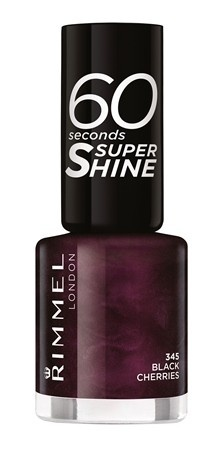 Poze Lac de unghii Rimmel 60 Seconds Shine, 345 Black Cherries