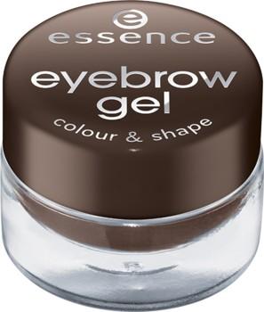 Poze Mascara gel pentru sprancene Essence eyebrow gel colour & shape 01 Brown