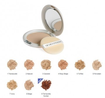 Pudra Seventeen Natural Silky Compact PowderNo 8 - Beige