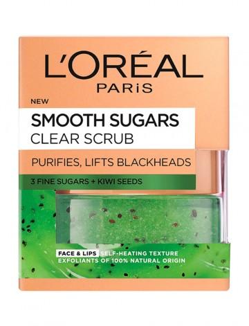 Poze Scrub exfoliant cu zahar pentru ten cu puncte negre L'Oreal Paris Smooth Sugars 50 ml