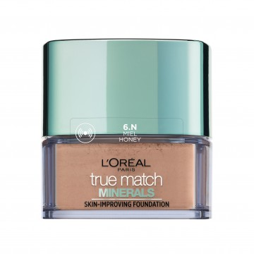 Poze Fond de ten mineral L'Oreal Paris True Match Minerals cu acoperire lejera  6N Honey 10g