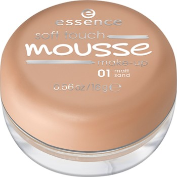Poze Fond de ten spuma Essence soft touch mousse make-up 01 Matt Sand 16gr