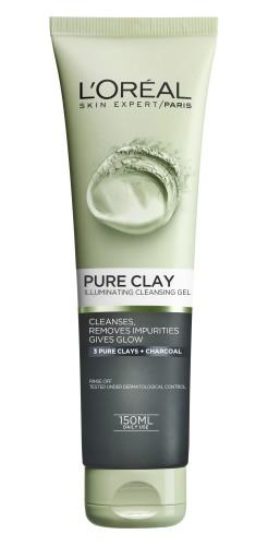 Poze Gel de curatare iluminator pentru fata L'Oreal Paris Pure Clay 150 ml