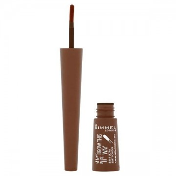Poze Mascara pentru sprancene Rimmel Brow This Way Filling Powder Dark Brown