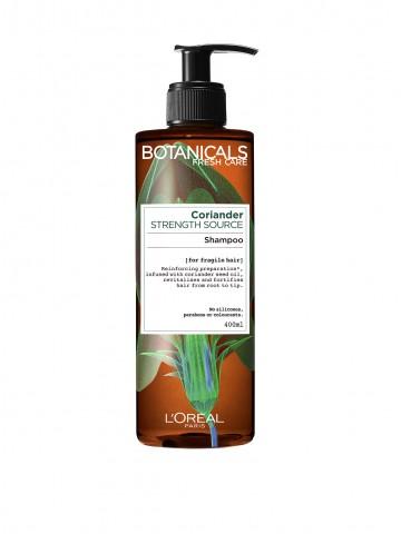 Sampon fortifiant Botanicals Fresh Care Coriander Strength Cure pentru par fragil 400 ml