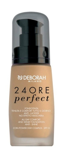 Fond de ten Deborah 24Ore Perfect Foundation  N. 3 Caramel Beige, 30 ml