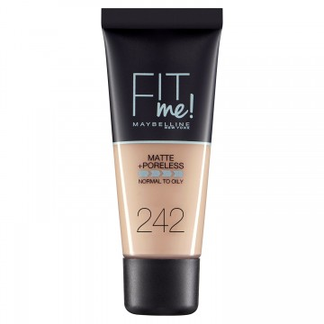 Poze Fond de ten matifiant Maybelline New York Fit Me Matte & Poreless 242 Light Honey 30ml