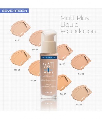 Poze Fond de ten Seventeen Matt Plus Liquid Foundation No 7