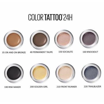 Maybelline New York Fard de pleoape rezistent la apa Color Tattoo 24H 150 Socialite, 4g