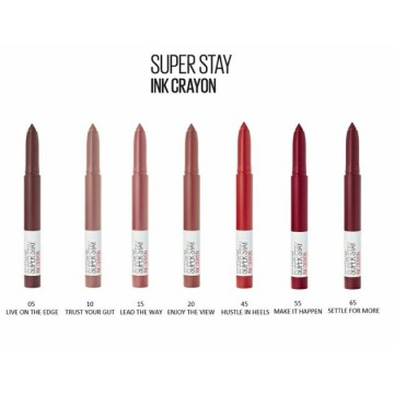 Maybelline New York Ruj de tip creion SuperStay Matte Ink Crayon, 15 LEAD THE WAY, 13g