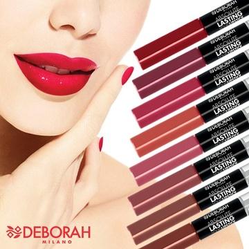 Ruj lichid Deborah Absolute Lasting Liquid Lipstick 08 Classic Red , 8 ml