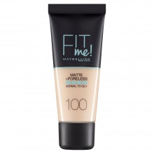 Fond de ten matifiant Maybelline New York Fit Me Matte & Poreless 100 Warm Ivory - 30ml