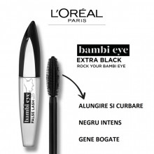 L'Oreal Paris Mascara efect gene false Bambi Eye False Lash Extra Black, 8.9 ml