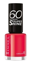 Lac de unghii Rimmel 60 Seconds Shine, 430 Coralicious