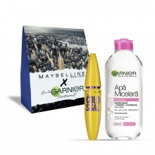 Pachet promo Garnier Skin Naturals Apa Micelara ten sensibil + Maybelline Mascara The Colossal volum colosal