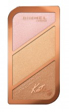 Paleta Rimmel Kate Face Sculpting Palette 004 Highlighting