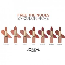 L'Oreal Paris Ruj ultra-mat, ultra-confortabil Color Riche Free The Nudes 04 NO CAGE