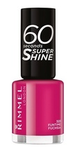 Lac de unghii Rimmel 60 Seconds Shine, 323 Funtime Fucsia