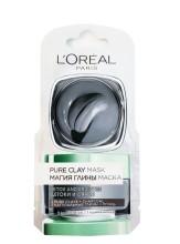 Mască de fata revitalizantă pentru iluminarea tenului L'Oréal Paris Pure Clay cu extract de Cărbune 6ml