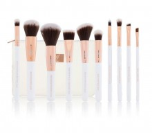 Set pensule Boozy Cosmetics Rose Gold BoozyBrush 10 pc Sculpt & Blend