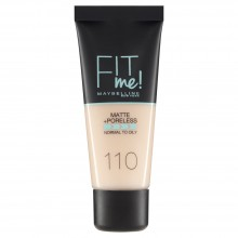 Fond de ten matifiant Maybelline New York Fit Me Matte & Poreless 110 Porcelain - 30ml