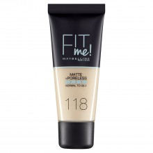 Fond de ten matifiant Maybelline New York Fit Me Matte & Poreless 118 Light Beige 30ml